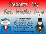 Presidents' Day Math Activities for Kindergarten