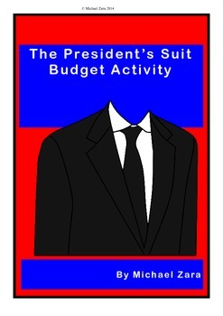 Presidents' Day Math Budgeting Activity 5th 6th 7th