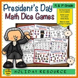 Presidents' Day Math Center Dice Games