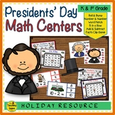 Presidents' Day  Math Centers