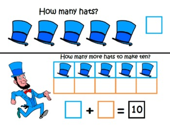 President's Day ~ Math Common Core Learning Mats ~ Making 10 and 5 ~ Math Center
