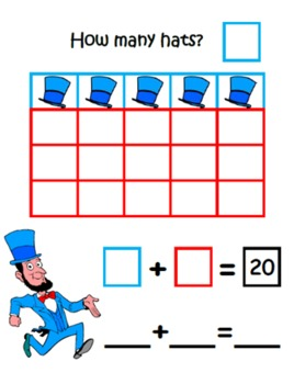 President's Day ~ Math Common Core Learning Mats ~ Making 20 ~ Math Center