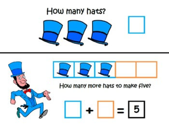 President's Day ~ Math Common Core Learning Mats ~ Making 5 ~ Math Center