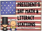 President's Day Math & Literacy Stations BUNDLE