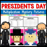 Presidents' Day Math Multiplication Mystery Pictures