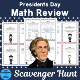 Presidents Day Math Review Scavenger Hunt