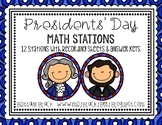 Presidents' Day Math Stations