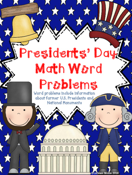 Presidents' Day Math Word Problems