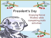 President's Day Math Word Problems and Activities