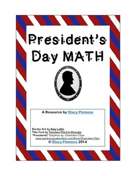 President's Day Math Word Problems for Intermediate & Middle Grades