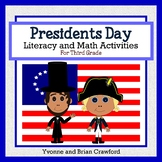 Presidents Day Math and Literacy Activities Third Grade Common Core