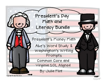 Presidents Day Math and Literacy Pack