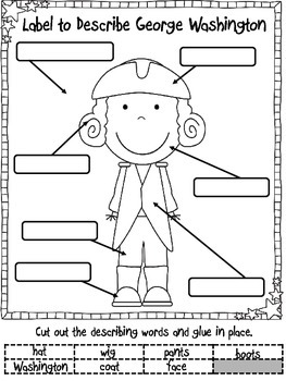 Presidents' Day Math and Literacy (Print & Go-Common Core Aligned) 40 Pages