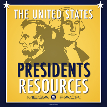 Presidents Mega Pack: Crossword, Unscramble, Research Template, Test Form...