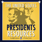 President's Day Mega Pack: Crossword, Unscramble, Research Template, Tests...