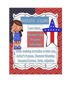 President's Day, Memorial Day, patriotic activities