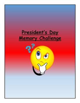 Presidents' Day Memory Challenge