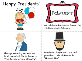 Presidents' Day Mini Book