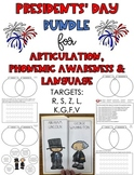 Presidents' Day Mini-Book BUNDLE: Articulation, Phonemic A