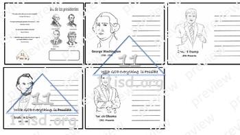 Presidents' Day Mini Book (Spanish)