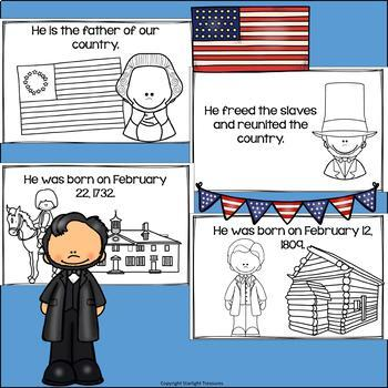 Presidents' Day Mini Book for Early Readers: Presidents' Day
