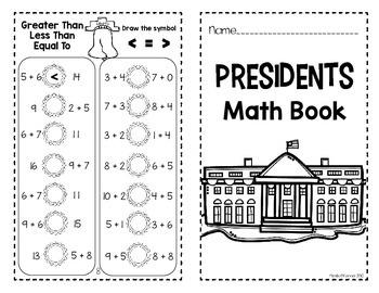 President's Day Mini Math Book (No Prep)