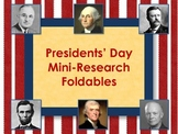 Presidents' Day - Mini-Research Foldable Books