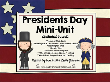 When Is President Day >> Presidents Day Mini Unit