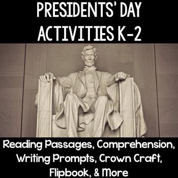 Presidents' Day Mini Unit & Activities Grades Kindergarten, First, Second K-2