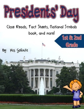 Presidents' Day Activties for 1-3: (CCSS Aligned)
