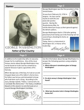 President's Day Mini-books (Washington and Lincoln)