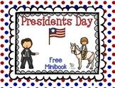 Presidents Day Minibook - Free
