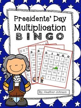 Presidents Day Multiplication BINGO