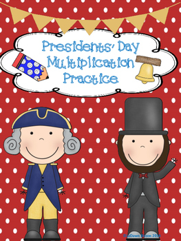 Presidents' Day Multiplication Practice