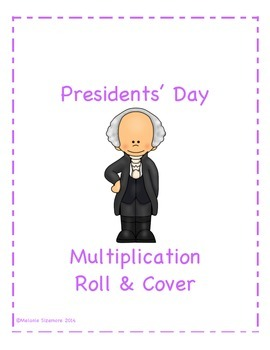 Presidents' Day Multiplication Roll and Cover