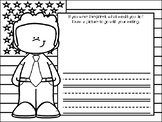 Presidents' Day NO PREP Kindergarten Language Arts Pack - Common Core Aligned!