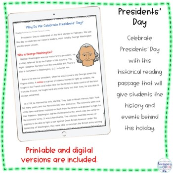 Presidents' Day Nonfiction Activity