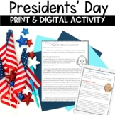 Presidents' Day Reading Activity