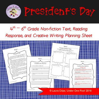 Presidents Day Nonfiction Reading and Writing Pack