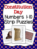 Constitution Day Number Counting Strip Puzzles - 5 Designs