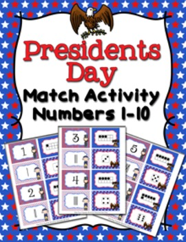 Presidents Day Number Match