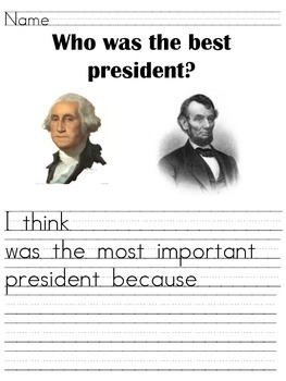 Presidents' Day Opinion Writing