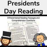 Presidents Day Reading (Differentiated) -George Washington & Abraham Lincoln