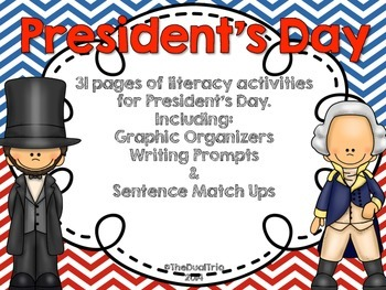 President's Day Pack (Writing & Graphic organizers)