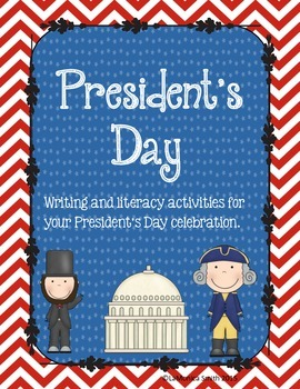 President's Day Pack - word wall, literacy center, writing prompts, organizers