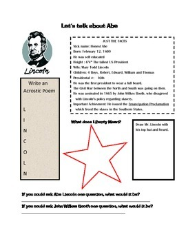 Presidents Day Packet