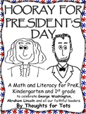 President's Day Packet, Math and Literacy for PreK, Kinder