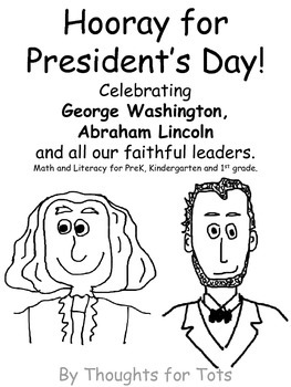 President's Day Packet, Math and Literacy for PreK and Kindergarten FREE VERSION