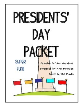 Presidents' Day Packet - Super Fun!