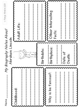 Presidents Day Pages (Printables and Activities)